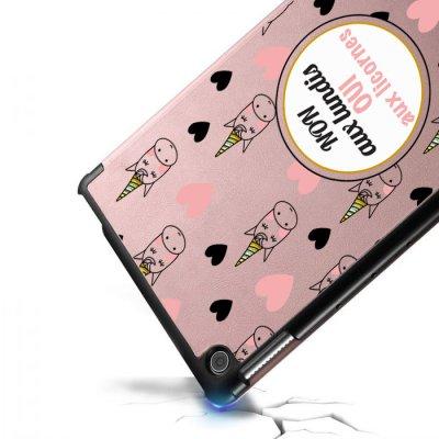 Etui Huawei MediaPad T5 10.1 pouces Oui aux licornes Ecriture Motif Tendance