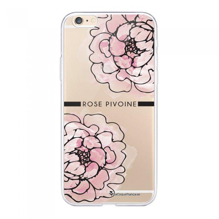 Coque iPhone 6 Plus / 6S Plus 360 intégrale transparente Rose Pivoine Ecriture Tendance Design La Coque Francaise