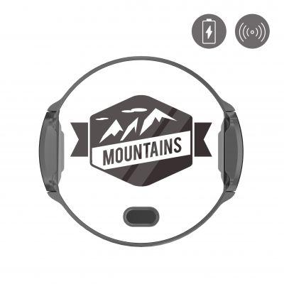 Support voiture avec charge à induction et ouvertu Montagne Forever