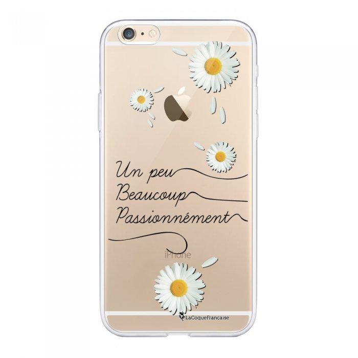 Coque Souple iPhone 6 Plus / 6S Plus souple transparente Un peu beaucoup Motif Ecriture Tendance La Coque Francaise