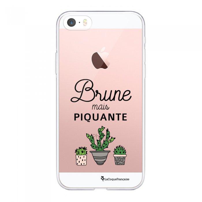 Coque iPhone 5/5S/SE souple transparente Brune mais piquante Motif Ecriture Tendance La Coque Francaise - Coquediscount