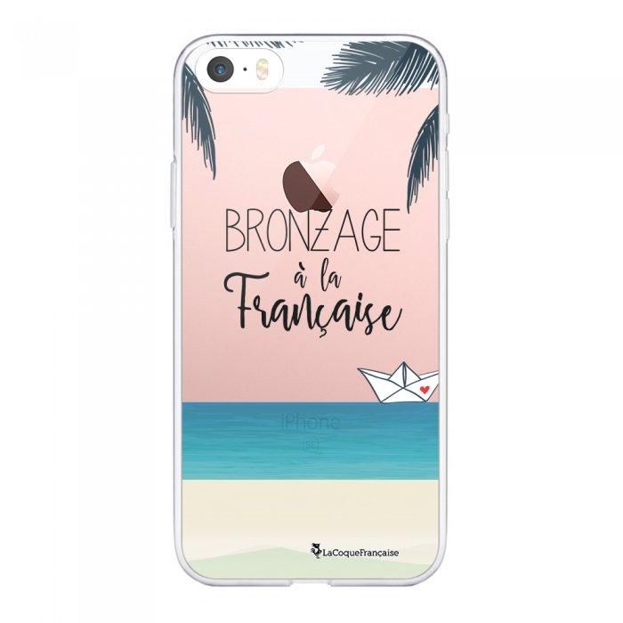 Coque iPhone 5/5S/SE souple transparente Bronzage à la française Motif Ecriture Tendance La Coque Francaise.