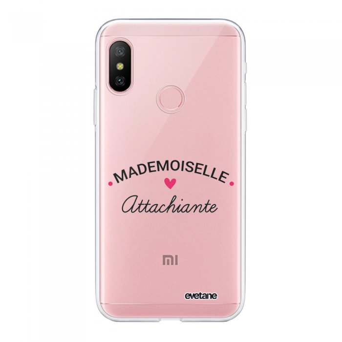 Coque Souple Xiaomi Redmi Note 6 Pro souple transparente Mademoiselle Attachiante Motif Ecriture Tendance Evetane