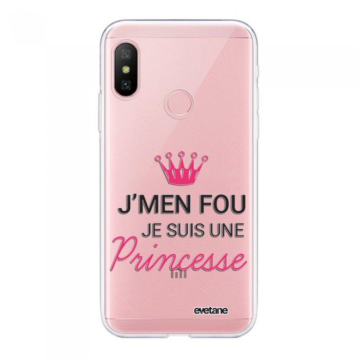 Coque Souple Xiaomi Redmi Note 6 Pro souple transparente Je suis une princesse Motif Ecriture Tendance Evetane