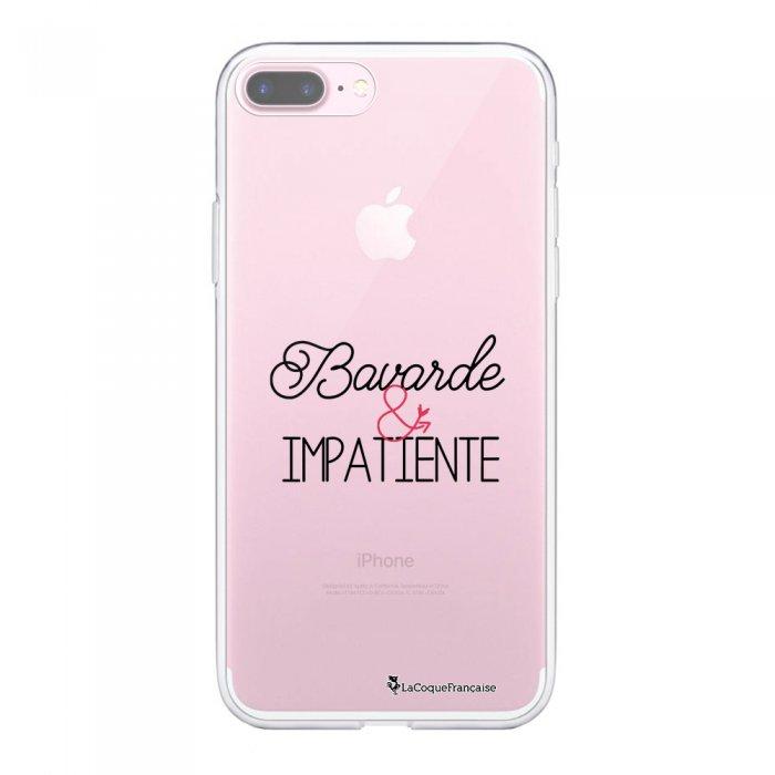Coque 360 iPhone 7 Plus / 8 Plus 360 intégrale transparente Bavarde et impatiente Ecriture Tendance Design La Coque Francaise