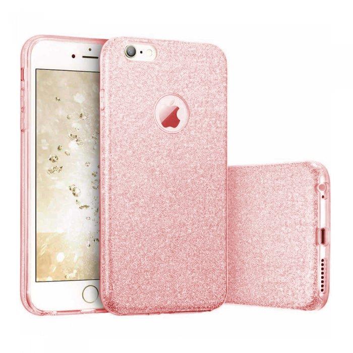 coque silicone souple paillettes rose pour iphone 6 6s