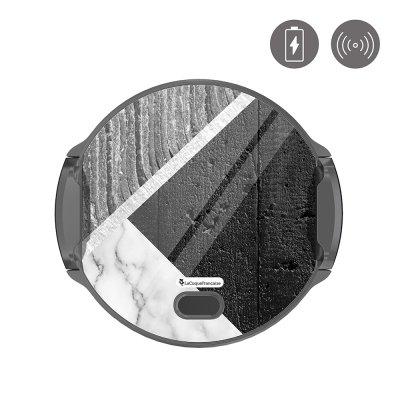Support voiture avec charge à induction Trio béton brut La Coque Francaise.