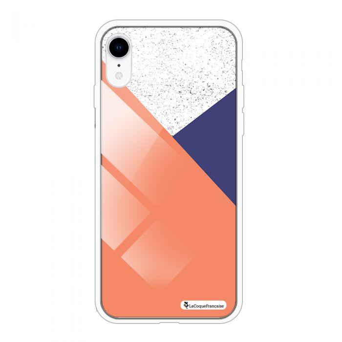 Coque en verre trempé iPhone Xr verre trempé blanc Trio Corail Ecriture Tendance et Design La Coque Francaise