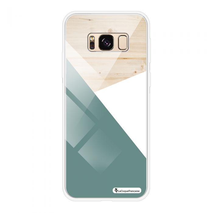 Coque en verre trempé BLANC Samsung Galaxy S8 verre trempé blanc Trio bois vert Ecriture Tendance et Design La Coque Francaise