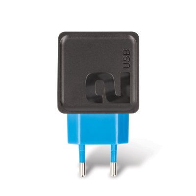Chargeur mural secteur avec 2 ports USB - noir