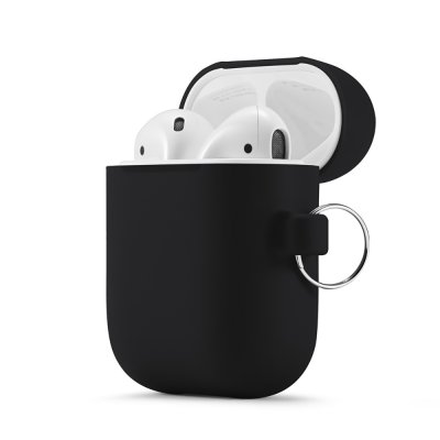 Housse de protection Airpods Silicone Liquide Noir