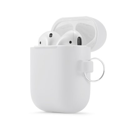 Housse de protection Airpods Silicone Liquide Blanc