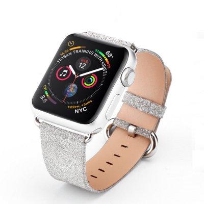 Bracelet 38-40 mm compatible avec Apple Watch pailleté Argent