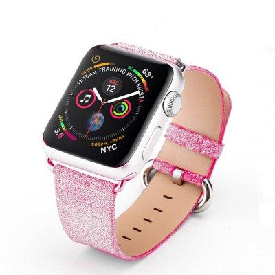 Bracelet 38-40 mm compatible avec Apple Watch pailleté Rose Gold