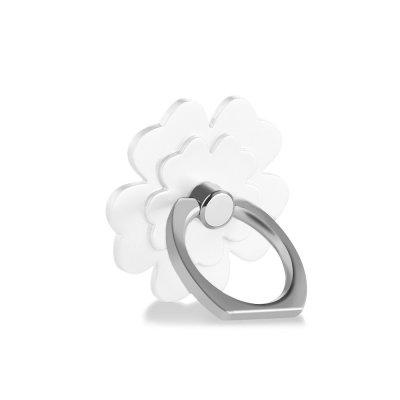 Support anneau rotatif 360° pour Smartphones & Tablettes Fleur Blanche