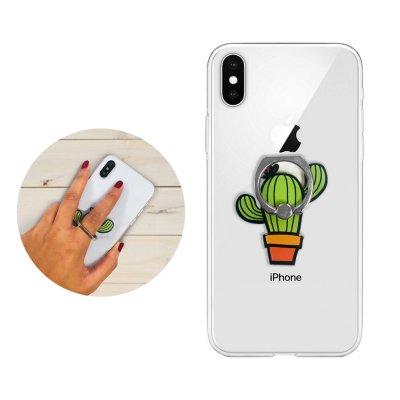 Anneau support pour Smartphone en forme de cactus