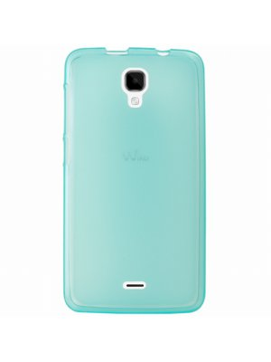 Mocca coque gel frost bleue pour Wiko Bloom