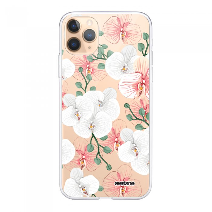 coque 360 apple iphone 11 pro max 360 integrale transparente orchidees ecriture tendance design evetane