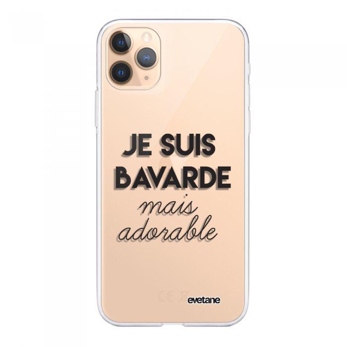 Coque iPhone 11 Pro Max 360 intégrale transparente Bavarde Mais Adorable Tendance Evetane - Coquediscount