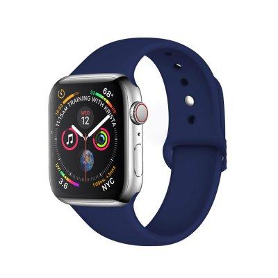 Bracelet 42/44 mm compatible avec Apple Watch silicone - Bleu Marine