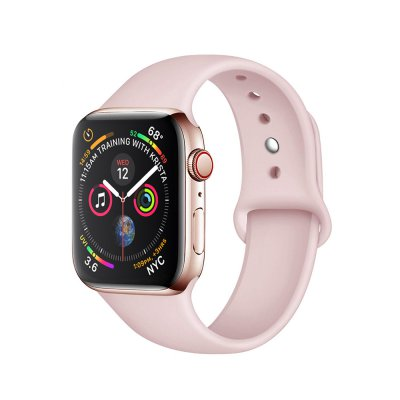 Bracelet silicone Apple Watch 38/40 mm - Rose Pale