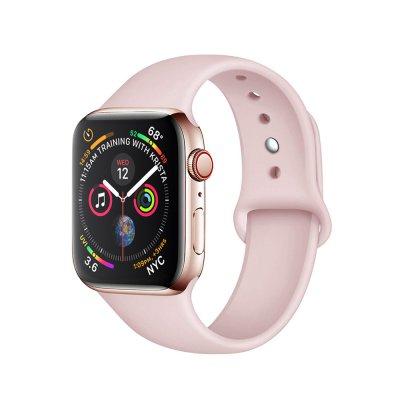 Bracelet 38/40 mm compatible avec Apple Watch silicone - Rose Pale
