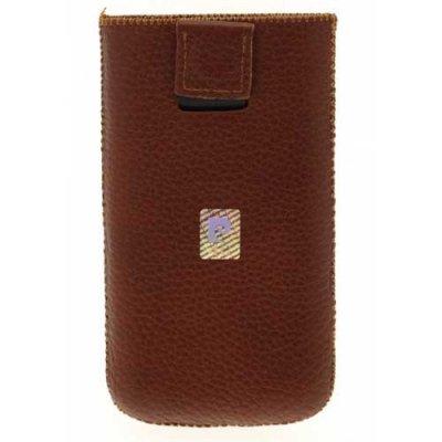 Etui pouch cuir marron Pierre Cardin pour iPhone4/4S