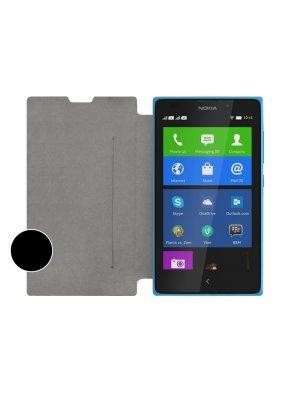 SWISS CHARGER Etui folio slim noir pour Nokia Lumia XL