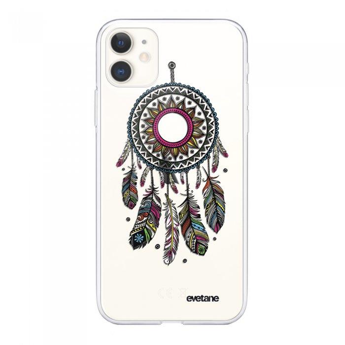 Coque iPhone 11 souple transparente Attrape rêve Motif Ecriture Tendance Evetane.