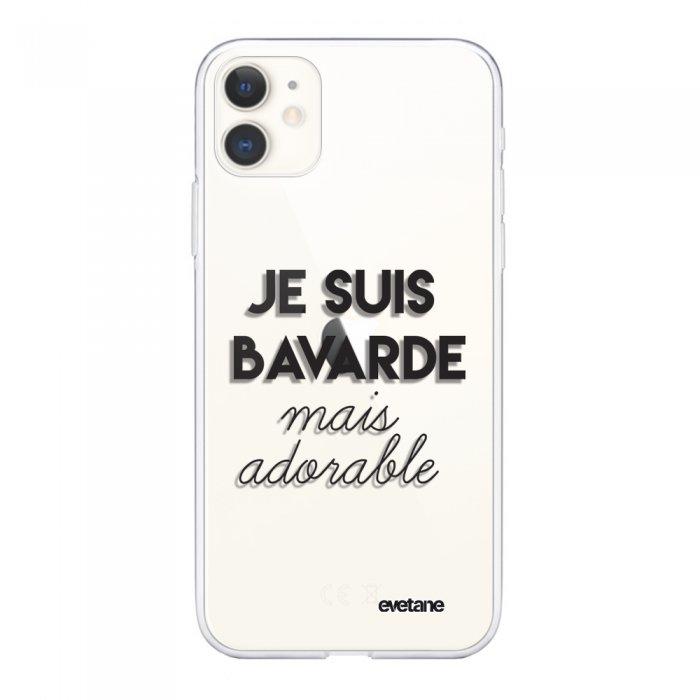 Coque iPhone 11 souple transparente Bavarde Mais Adorable Motif Ecriture Tendance Evetane.