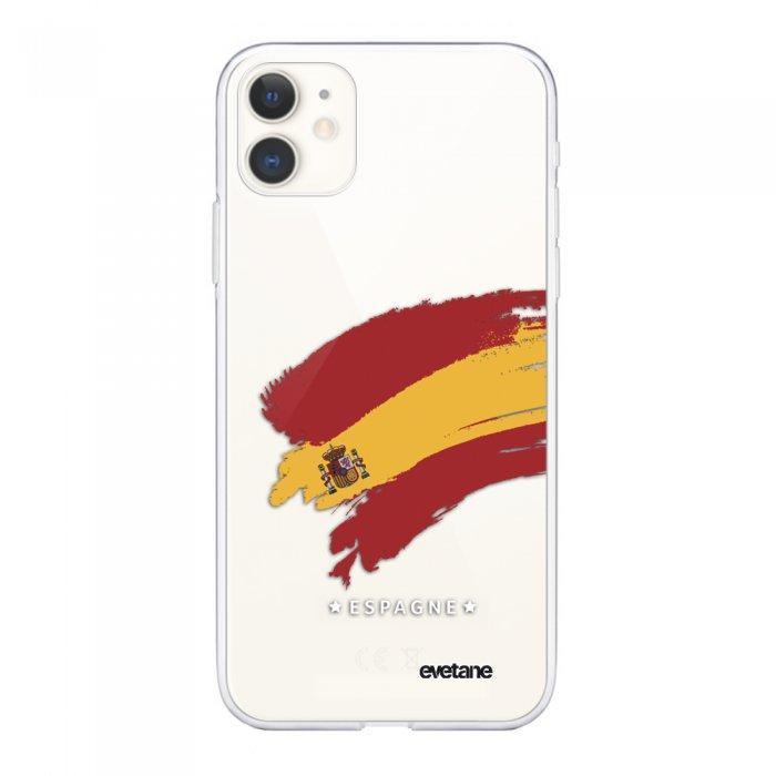 Coque iPhone 11 souple transparente Espagne Motif Ecriture Tendance Evetane.