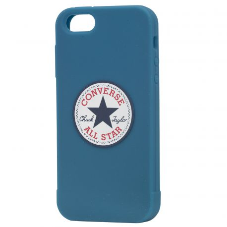 converse coque silicone bleue pour iphone 5 5s