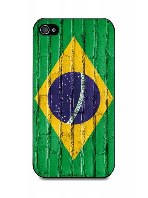 Muvit Coque Noire Bresil Mur Apple Iphone 4S