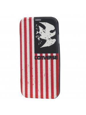 Converse Housse Folio Tissu Imprime Americana Print Samsung Galaxy S5