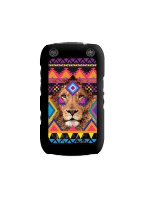 Coque lion azteque pour Blackberry Curve 9320