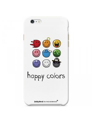 Moxie coque Smiley Happy Colors White pour Apple iPhone 6 4.7