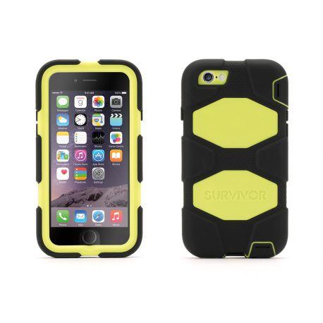 survivor coque all terrain citron et gris pour apple iphone 6 et 6s