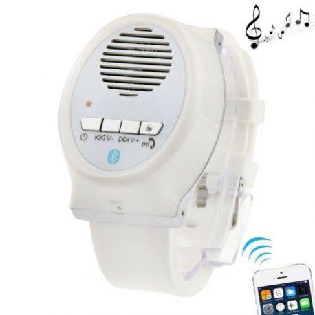 Montre Bluetooth speaker blanche