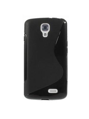 Coque silicone S line Minigel noire Bi-Matières pour LG F70