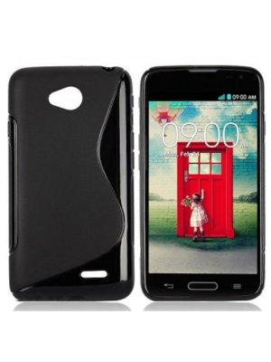 Coque silicone S line Minigel noire Bi-Matières pour LG L70