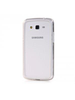 Bumper bi-matière blanc pour Samsung Galaxy Grand