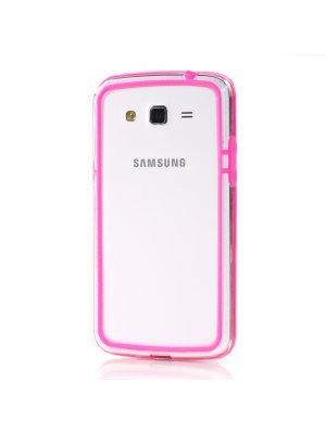 Bumper bi-matière rose pour Samsung Galaxy Grand
