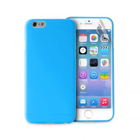 puro coque ultra slim 03mm bleu pour apple iphone 6 et 6s