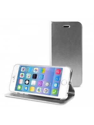 "PURO housse iPhone ""livre"" 6 4.7"" avec rangement carte type CB gris"