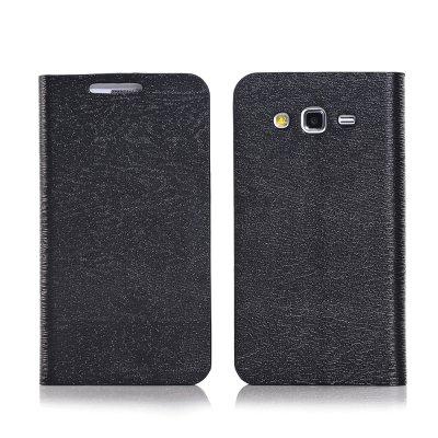 Etui livre noir pour Samsung Galaxy Grand 2