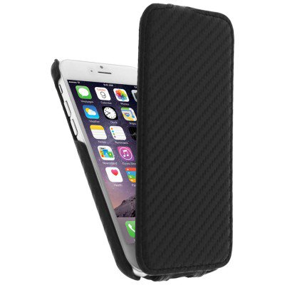 Etui clapet carbone pour Apple iphone 6 4.7''