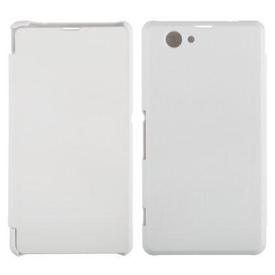 Etui livre blanc Pour Sony Xperia Z1 Compact