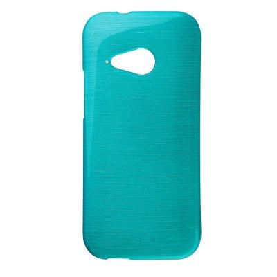 Coque silicone effet métallique bleu pour HTC One M8 Mini 2