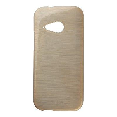 Coque silicone effet métallique doré pour HTC One M8 Mini 2