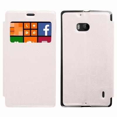 Etui livre avec fenêtre blanc Pour Nokia Lumia 930